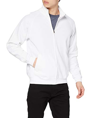 Fruit of the Loom Ss059m Sudadera, Blanco (White), Large (Talla del Fabricante: Large) para Hombre