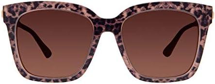 DIFF Eyewear Bella Designer Square Oversized Sunglasses for Women 100 UVA UVB Leopard Tortoise product image