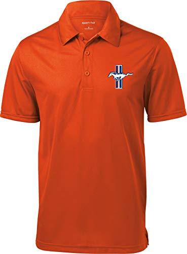 Ford Motors Offizielles Lizenziertes Cool Performance Herren Poloshirt (2XL, Orange)