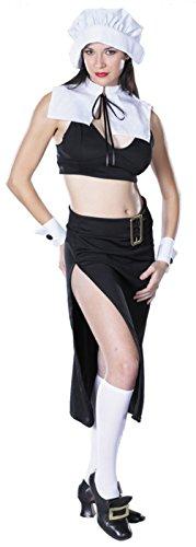 Cinema Secrets Womens Prudence Naughty Pilgrim Outfit Fancy Dress Sexy Costume, L (16-18)
