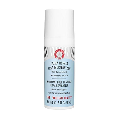 First Aid Beauty Ultra Repair Face Moisturizer, Hydrating Face Lotion for All Skin Types, 1.7 Ounces