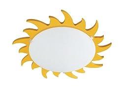 Kidsplace Sun Flushmount Ceiling or Wall Light, Yellow