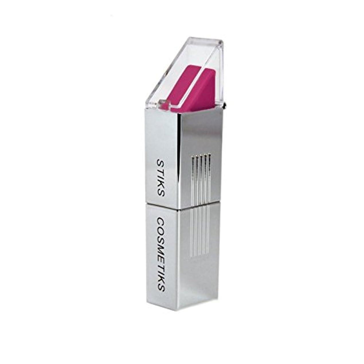 額風変わりなヘビーSTIKS Cosmetiks Fuchsia Lipstick (Pack of 6) - フクシア口紅 x6 [並行輸入品]
