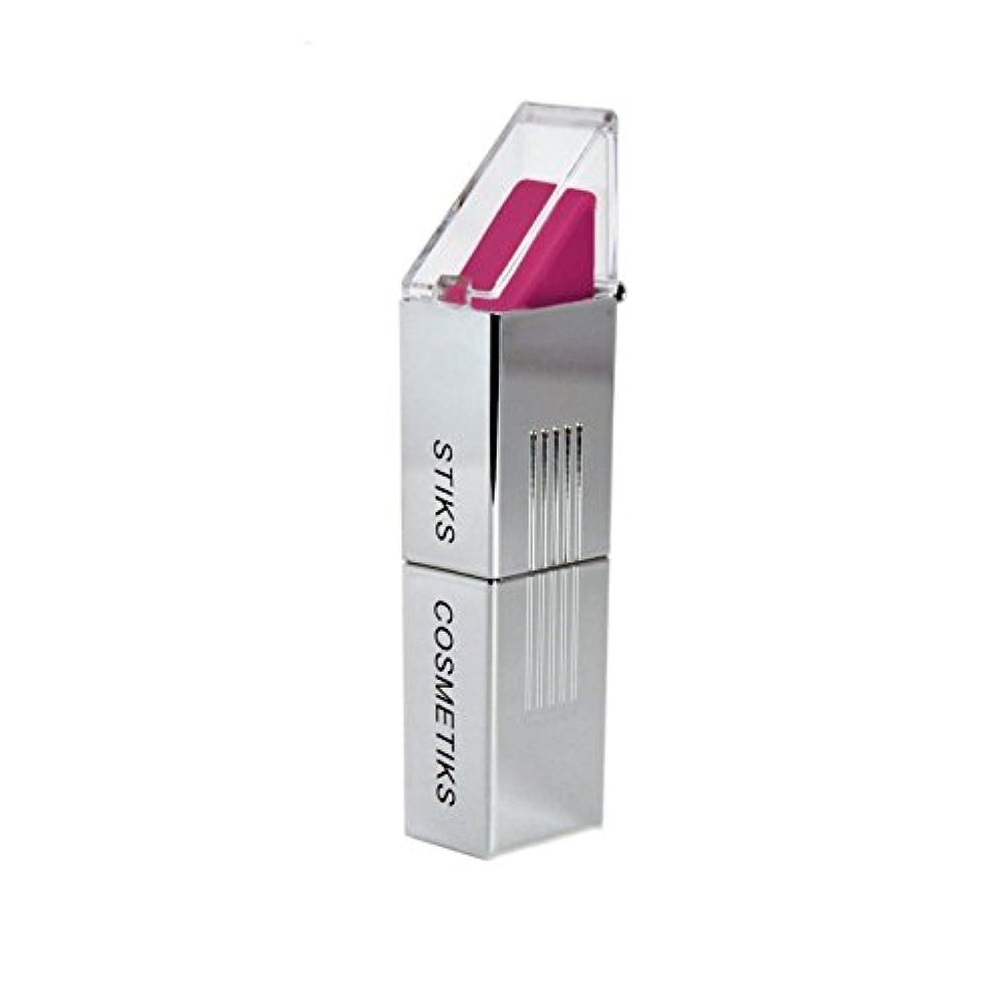 戦略慰め和STIKS Cosmetiks Fuchsia Lipstick (Pack of 6) - フクシア口紅 x6 [並行輸入品]