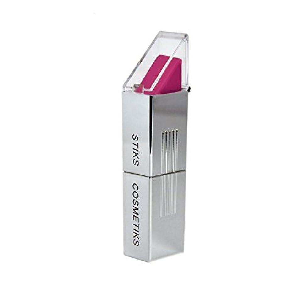 流暢印刷する平方フクシア口紅 x4 - STIKS Cosmetiks Fuchsia Lipstick (Pack of 4) [並行輸入品]