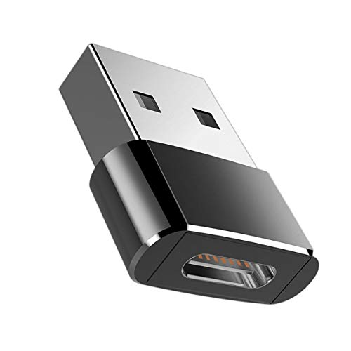 Timetided Universal USB C 3.1 Tipo C Hembra a USB 3.0 Tipo A Adaptador convertidor de Puerto Macho Bolso Negro OPP Diseño liviano portátil