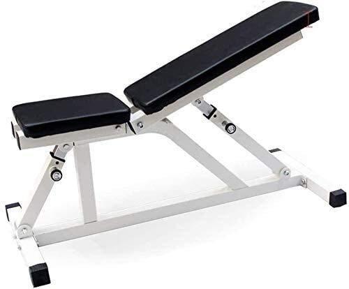 TAIDENG Banco de pesas ajustable para entrenamiento en casa, gimnasio, levantamiento de pesas, con pesas ajustables, multifunción, banco ajustable