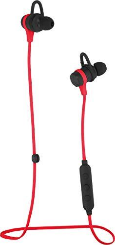 Amazon Basics - auricolari wireless Bluetooth, con microfono, per l'attività fisica, rosso