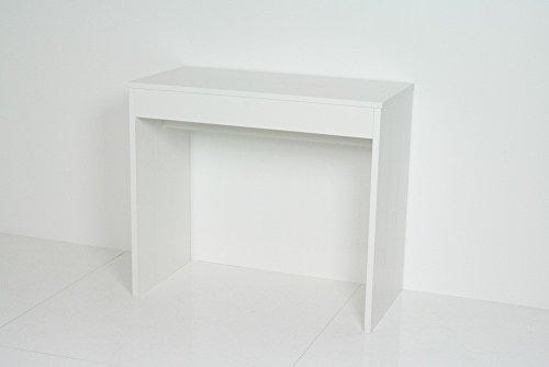 Table Console Extensible Pratika fabriqué en Italie Blanc Poro Ouvert Moderne Design 14 Places