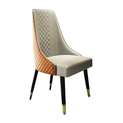 ZGQA-GQA Silla de Comedor 2 sillas de Madera Maciza de hoteles for cenar en sillas Silla Moderna Minimalista Inicio Restaurante Estudio Suave de Cocina (Color: Naranja, Tamaño: 55cm x 61cm x 93cm)