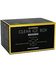 Clear Ice Box Big Cubes | pojemnik na lód z foremką na 6 dużych, przezroczystych kostek lodu | każdy 5 x 5 cm | krystalicznie czysty | topi się wolniej | idealny do koktajli i whisky