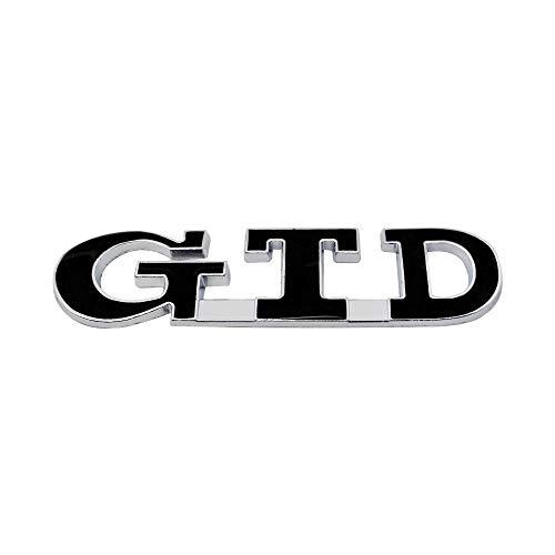 3D GTD Emblem Auto Karosserie Kofferraum Diesel Logo Label Aufkleber für Volkswagen VW Jetta Golf 2 3 4 5 6 7 MK2 MK3 MK4 MK5 MK6 MK7 Aufkleber (Farbe Name: Schwarz)