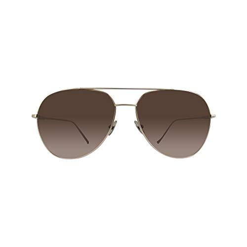 Montblanc Unisex-Erwachsene MB657S 32F 61 Sonnenbrille, Gold (Oro/Marrone Grad)