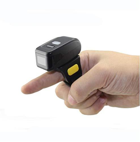 Iboing Mini Scanner sans Fil Handheld MJ-R30 sur Anneau de Doigt Barcode Lecteur de Code à Barre 1D Android iOS Windows