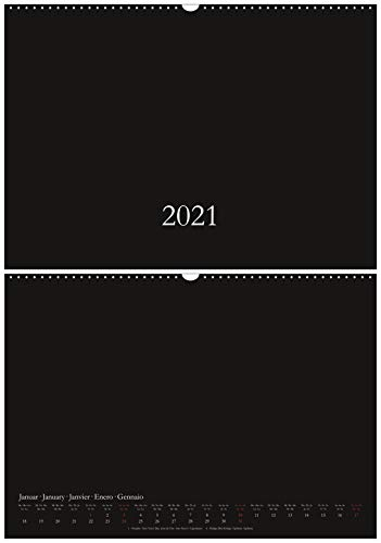 Bastelkalender & Fotokalender 2021 - DIN A3 / A2 - CO2 neutral in Deutschland gedruckt - Querformat/quer - schwarz - Wandkalender - Kreativkalender DIY Do-it-yourself - XL/XXL (A3)
