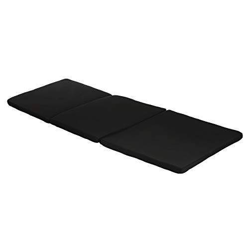 Garden Sun Lounger Replacement Pad To Fit Allibert Keter Daytona Sun Lounger| Rattan Sunlounger Recliner Patio Furniture Cushion | Water Resistant & Lightweight | Hypoallergenic Foam Filled (Black)