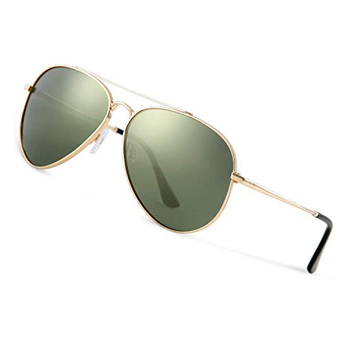 Avoalre Polarisierte Sonnenbrille Herren 100% 400 UV Schutz Fliegerbrille Männer Pilotenbrille 2020Trend Grün