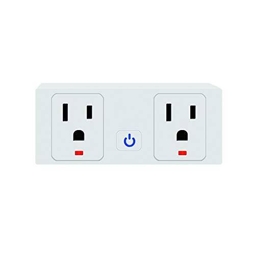 Jinvoo Wifi Smart Plug, Wireless Smart Outlet - Remote Control Wi-Fi Plug Compatible with Alexa Echo Google Home IFTTT, 1 pack, No Hub Required Smart Socket