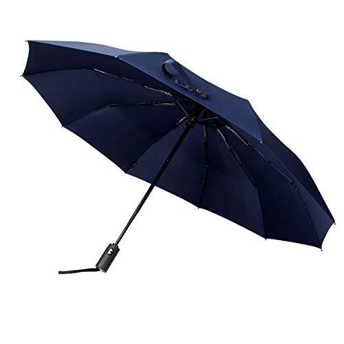 Philorn Paraplu compact op-te automatisch 210T golfscherm zakparaplu paraplu stormbestendig 10 ribben stormbestendig tot 140 km/h scherm tas voor kinderen, dames en heren 105 cm