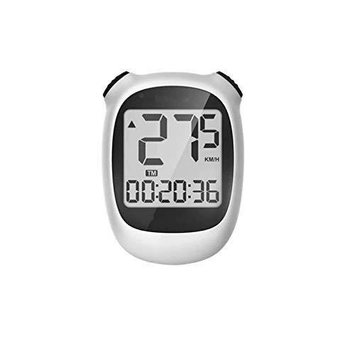 ZSM Bicycle Odometer Inalámbrico Bike Computer 1.6inch LCD Pantalla Impermeable USB Recargable Ciclismo Velocímetro Odómetro - WH Odómetro (Color: Blanco, Tamaño: Un tamaño) YMIK