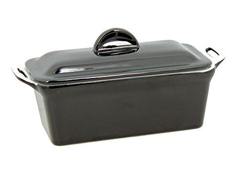 TheKitchenette 2940455 Terrine à Couvercle Noir, avec Presse, 600 GR