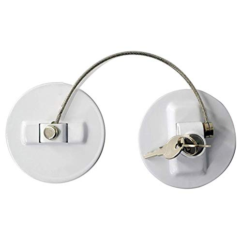 Icegrape Koelkast Slot, Koelkast Lock met Sleutel, Kinderen Veiligheidsslot Safe Lock Multi