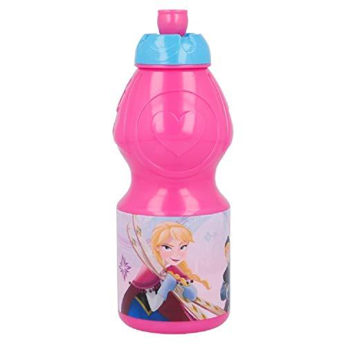3128; Botella sport Disney Frozen II; capacidad 400 ml; producto reutilizable; libre de BPA