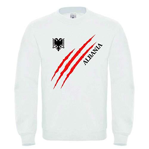 Roots Wear Albanien Männer Sweatshirt Weiß (M)