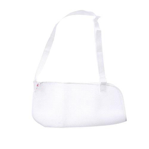 Preisvergleich Produktbild HEALIFTY Arm Sling Cool Mesh verstellbare Schulter Wegfahrsperre Medical Sling für gebrochen und gebrochenen Arm (weiß)