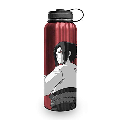 Naruto 'Itachi Uchiha' Stainless Steel Water Bottle [RED][17 oz] Hydro Tumbler Flask, Plastic Anime Jug, Shaker, Naruto Shippuden Metal Waterbottle, (OFFICIALLY LICENSED), by Just Funky