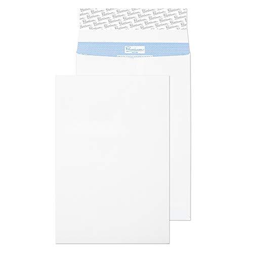 Premium Secure TR9902 Reißfeste Falten-Versandtasche Haftklebung Weiß C4 324 x 229 mm 125g/m² | 20 Stück