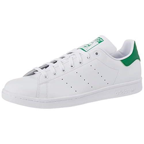 adidas Stan Smith M, Scarpe da Ginnastica Uomo, Footwear White Core White Green, 36 1/3 EU