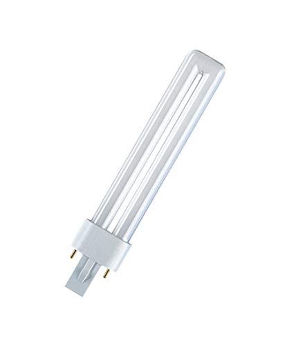 10x Osram DULUX S Kompaktleuchtstofflampe G23 - (9W/827 G23 - 167mm - Interna)