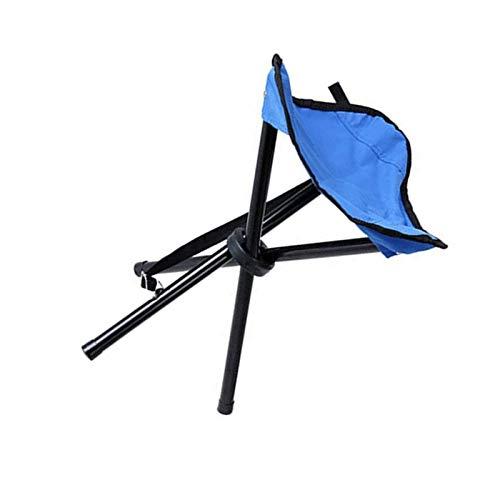 YuuHeeER Taburete plegable para camping, senderismo, silla de trípode, asiento plegable, camping, patio, barbacoa, 1 unidad