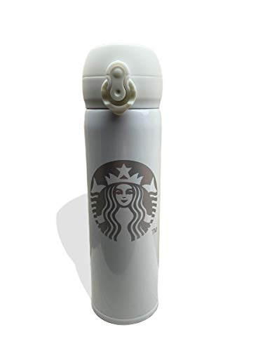 Starbucks duurzame RVS thermosfles, voor koffie, thee, of water - isolerende dubbelwandige waterfles, reisbeker 400 ml (roze)