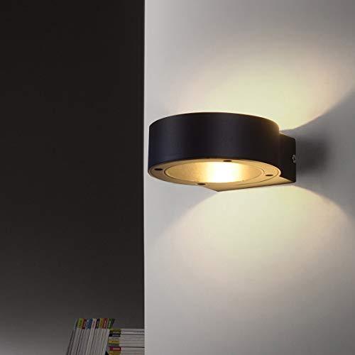 KAYIMAN Rings Up and Down Aplique de pared 7W Lámpara contemporánea Negro Carcasa blanca cálida LED integrado Estilo de arriba y abajo para porche Pasillo Escalera Patio IP54 Impermeable