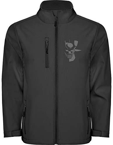 Camisetas EGB Chaqueta Softshell Mazinger Z ochenteras 80´s Retro (3XL, Negro)