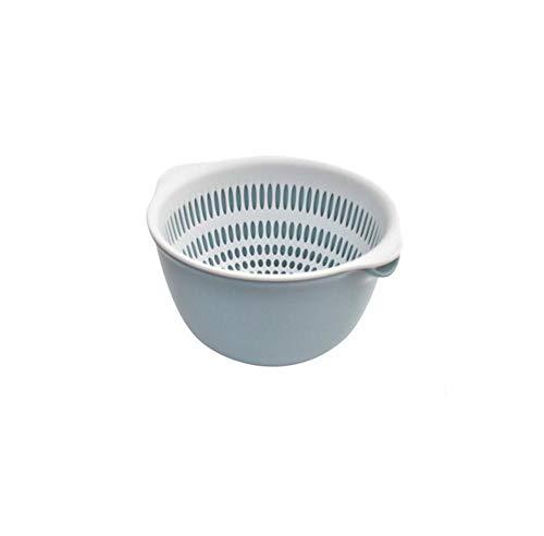 WOSOQ Drain Korb Doppelschichtkörper Multi-Funktions-Pfanne Schüssel Hauptküche Obst und Gemüsekorb Wohnzimmer Obstschale (Farbe : B)