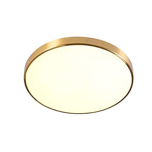 Lampade da soffitto dimmerabili a LED, rotondo acrilico antico rame metallo illuminazione lampadari decorativi plafoniere nordico soggiorno camera da letto plafoniera in ottone ultrasottile