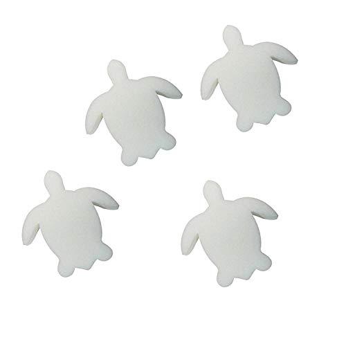 Öl-absorbierender Schwamm in Form einer Schildkröte, Schwamm für Whirlpool und Spa, absorbiert Öl, Schleim, Schmutz und Schmutz (4 Stück)
