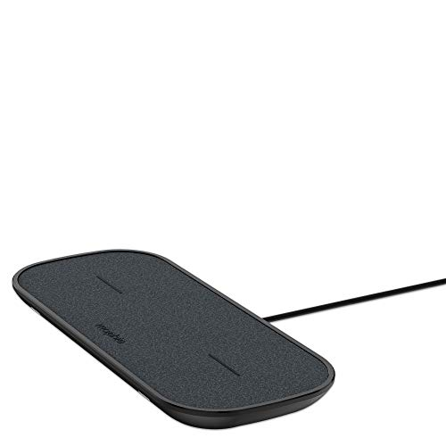 mophie Dual Wireless Charging Pad - Made for Apple Airpods, iPhone Xs Max, iPhone Xs, iPhone XR and Other Qi-Enabled Devices - Black