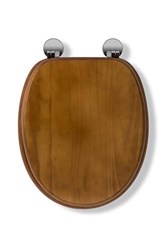 Croydex Flexi-Fix Davos Siempre Nunca Se Adapta Slips–Asiento para Inodoro con Tapa, Madera, Efecto de Pino Envejecido, 43x 36,5x 6cm