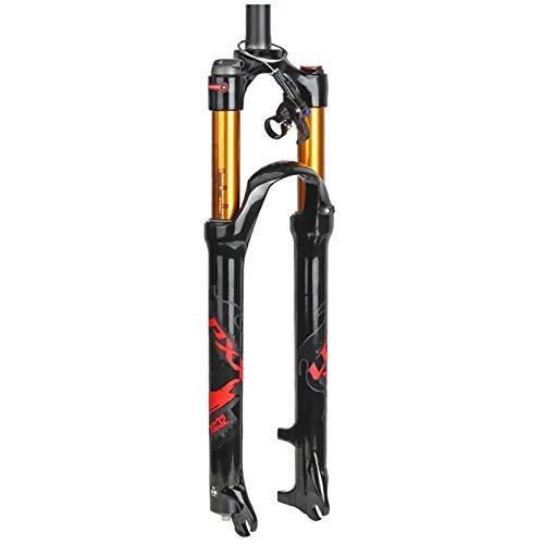 Leggero Forcella Ammortizzata 26 27.5 29 inch Aluminum Alloy Telecomando MTB Forcella Forcella di Sospensione Mountain Bike Bicicletta Viaggio: 100mm