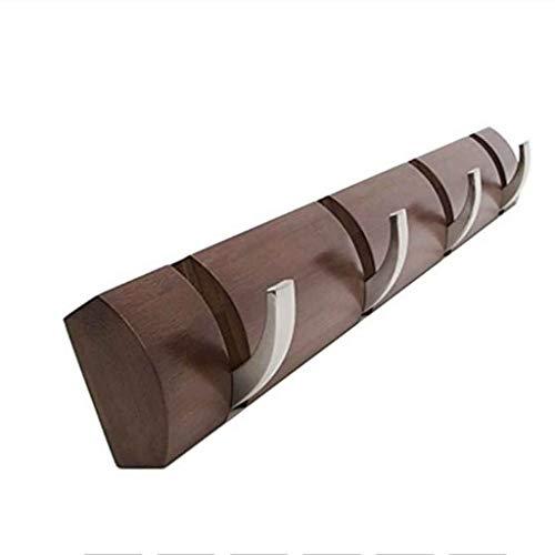 SHYPT Bamboo Floating Wall-Mounted Rack Coat Hook Rack Towel Hanger Holder European Style Dress Coat Hook Wall Door Hat Hanger (Color : Brown)