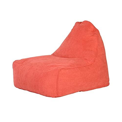 LuoMei Bean Bag Sofá Perezoso con Respaldo Y Relleno de Partículas Eps Ideal para Lectura Juego Meditación Envío Gratis Cepillo Pegajosonaranja