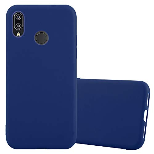 Cadorabo Coque pour Huawei P20 Lite en Candy Bleu FONCÉ - Housse Protection Souple en Silicone TPU avec Anti-Choc et Anti-Rayures - Ultra Slim Fin Gel Case Cover Bumper