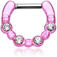 WildKlass Jewelry Pink Septum Clicker 16g 1/4