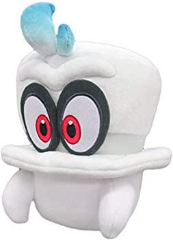 Super Mario Odysssey White Cappy Kids Gift Mario Bowser Koopa Plush