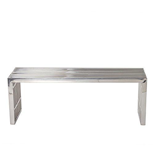 Modway Medium Gridiron Stainless Steel Bench