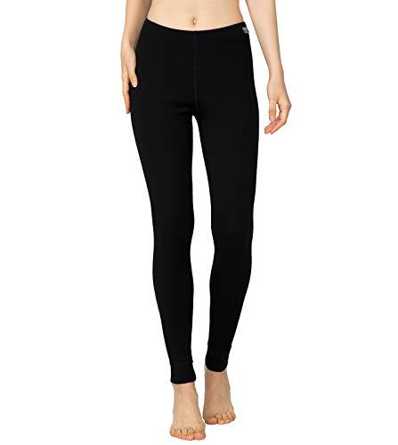 LAPASA Women's 100% Merino Wool Thermal Underwear Pants Midweight Long Johns Leggings Base Layer Bottoms L49 (X-Large, Black)